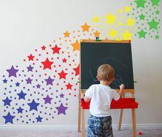 Star Rainbow - Vinyl Wall Art, Sticker, Decor. $62.00, via Etsy.