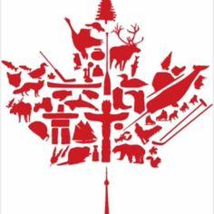 Back of calf or shoulder? Canadian Symbols, Native Canadian, I Am Canadian, Canada Day Shirts, Canada Day Crafts, Canadian Tattoo, Canada Day Party, Canada 150, Canada Logo