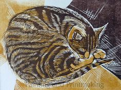 """Billy"" - Woodblock print by Jackie Curtis"