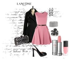 """A Night on the Town"" by michelled2711 ❤ liked on Polyvore featuring Roberto Festa, Sodamix, Effy Jewelry, Prezzo, Lancôme, Philippe Audibert, trench coats, black diamonds, slingback pumps and clutches"