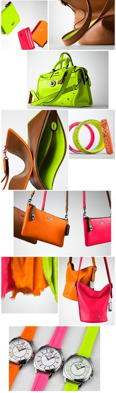 I am SUPER excited for this collection!!! COACH - Neon Now | Introducing C.O.A.C.H.