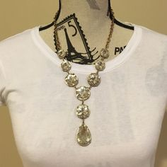 Sale Giant Crystal And Gold Necklace
