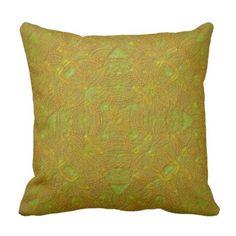 Bas-Relief Citrus Mandala Pillow  $31.65  by MANDALA_MANDARIN  - cyo diy customize personalize unique