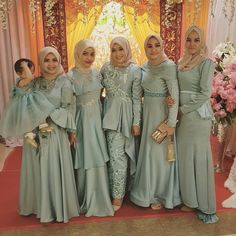 Hijab Evening Dress, Hijab Dress Party, Hijab Style Dress, Kebaya Modern Hijab, Kebaya Muslim, Muslim Dress, Dress Brukat, Kebaya Dress, Kebaya Brokat