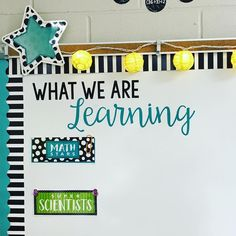 My goal for my first classroom is to have the whiteboard clearly display our daily objective in a creative way. Classroom Objectives, 5th Grade Classroom, Middle School Classroom, Classroom Bulletin Boards, Classroom Design, Kindergarten Classroom, Future Classroom, Classroom Themes, Learning Objectives Display