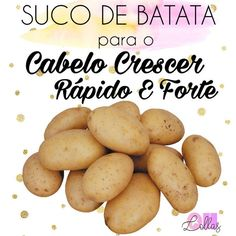 Como usar suco de batata para o cabelo crescer mais rápido e benefícios do sumo de batata para os fios.
