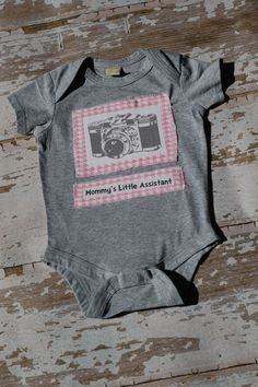 mommy's little assistant onesie