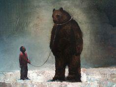 Acrylic and oil on canvas. x 2010 Art Studies, Art Education, Art Images, Oil On Canvas, Birds, Horses, Bear, Fine Art, Artist