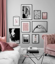Find inspiration for creating a picture wall of posters and art prints. Endless inspiration for gallery walls and inspiring decor. Create a gallery wall with framed art from Desenio. Salon Interior Design, Interior Design Living Room, Living Room Designs, Decor Room, Diy Bedroom Decor, Living Room Decor, Wall Decor, Gallery Wall Bedroom, Bedroom Wall