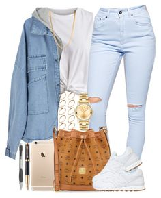 Back to School Fit #3 by livelifefreelyy on Polyvore featuring polyvore, fashion, style, VILA, The Ragged Priest, New Balance, MCM, Movado, ASOS, Parker and Alessi  |Lilshawtybad|