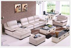 Угловой модульный диван в комплекте гостиной из кожи белого цвета купить https://lafred.ru/catalog/catalog/detail/38420145791/