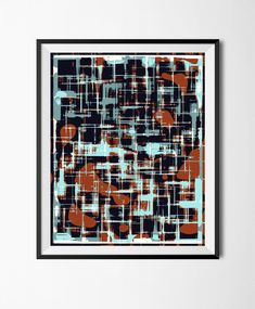 Petr Strnad - Download Printable Art, Abstract Grunge Poster Overlapping Shapes Irregular File  Digital Manipulated Art Handmade Wall Graphic Design Print by STRNART on Etsy