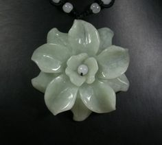 RP:   Light Green Natural Jade Pendant  Rose  | eBay.com