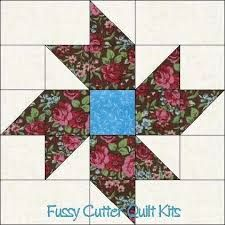 Resultado de imagen de quilt blocks made with floral fabric