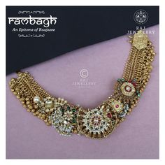 Rambagh has the thapa type of antique style. Wear it on the most special occasion. Trendy Jewelry, Necklace Designs, Indian Jewelry, Wedding Jewelry, Jewelry Design, Special Occasion, Antique Jewellery, Gold Jewellery, Jewellry Box