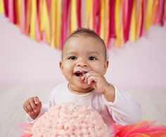 Cake Smash! This is Esmé a week before her 1st birthday! We had so much fun.  Go to www.veroj.com to see some more photo and get some more information.  #baby #cakesmash #photography #London #verojphotography #cake #1stbirthday #birthday #mums #girl #boy #fun #2014