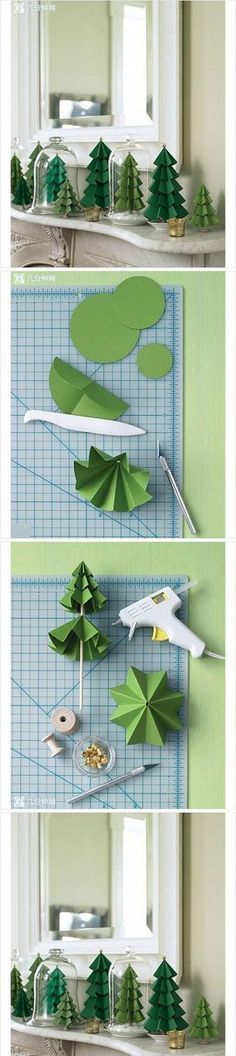 DIY paper tree decorations | Woman's heavenWoman's heaven
