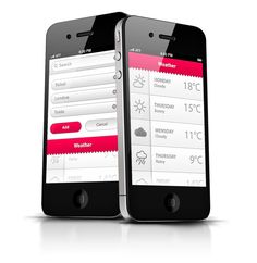 Phone App UI - Uprising by Ismail MESBAH, via Behance