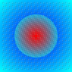 Floating sphere illusion. Scroll the image up or down or move your head, and the sphere moves!