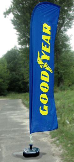 Wingflag For Goodyear Company - http://screen-print.biz/products-for-the-goodyeardunlop-company-en/wingflag-goodyear/