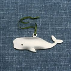 NEW - whale ornament on Etsy, $18.00