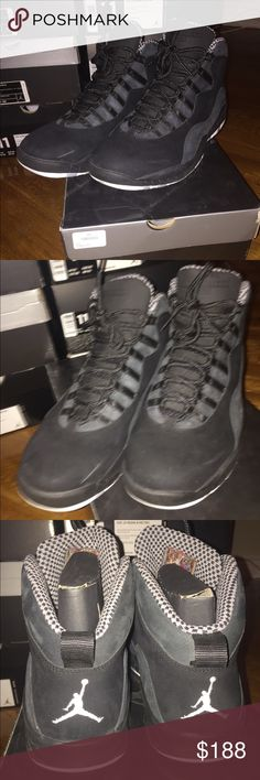 JORDAN 10 Authentic, worn once or twice, comes with box. NO TRADES, NO NONSENSE, PRICE FIRM, PLEASE ZOOM IN ON ALL PICTURES TO UNDERSTAND CONDITION Jordan Shoes Sneakers