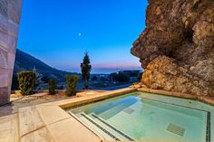 Big Cottonwood Canyon, Salt Lake City, UT Yellowstone Club, Cottonwood Canyon, Modern Mountain Home, Jacuzzi Outdoor, Building A Pool, Beautiful Rocks, Closer To Nature, Architectural Features, Indoor Outdoor Living