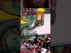 Acrylic pour flip cup fluid art - YouTube