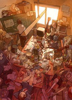 Psylocke - X-Men - Jim Lee, in Charlie Ramirez's Artwork Comic Art Gallery Room - 896058 Manga Art, Anime Art, Level Design, Comics Illustration, Drawn Art, Environment Design, Art Graphique, Anime Scenery, Environmental Art