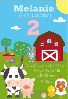 Farm Party Printables. Farm Animals Birthday por CumpleKits en Etsy