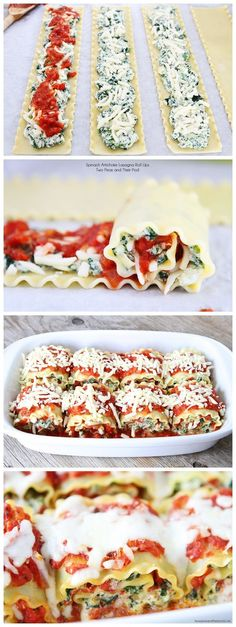 Spinach Artichoke Lasagna Roll Ups I want to try to convert this recipe to vegan.