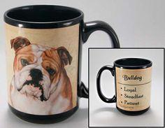 Faithful Friends Bulldog Dog Breed Coffee Mug http://doggystylegifts.com/products/copy-of-faithful-friends-bichon-frise-dog-breed-coffee-mug