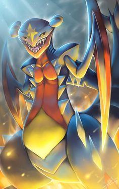 by R-nowong on DeviantArt Pokemon : Mega Garchomp! by R-nowong.devianta… on Dragon Type Pokemon, Mega Pokemon, Pokemon Pins, Pokemon Memes, Pokemon Fan Art, Cute Pokemon, Mega Mewtwo, Play Pokemon, Mega Evolution