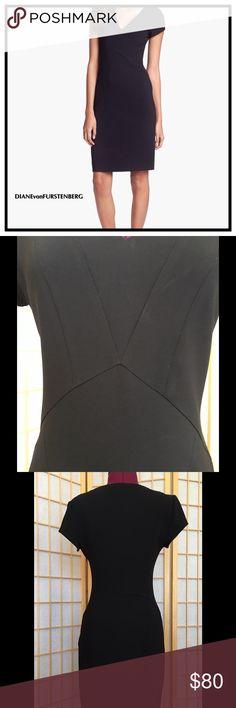 "Diane Von Furstenberg Norma Dress Beautiful, black sheath dress with hidden side zipper. 34"" long. Excellent condition. Diane von Furstenberg Dresses Midi"