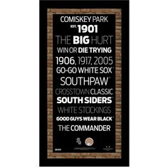 Steiner Sports Chicago White Sox Subway Sign Wall Art ($60) ❤ liked on Polyvore featuring home, home decor, wall art, no color, underground sign, steiner sports signings, subway sign, vintage subway signs and vintage signs