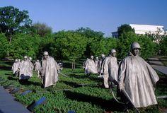 Korean War Veterans Memorial: More than 36,000 Americans were killed in action in the Korean War.
