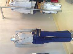 Pantalón de terciopelo azul