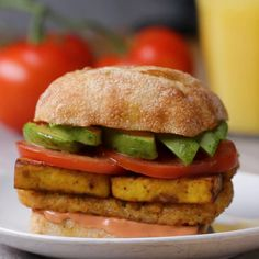 "Tofu ""Egg"" Breakfast Sandwich Recipe by Tasty"