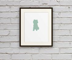 West Highland Terrier Cameo Silhouette Art Print | $18 Pick your Color & Dog Breed | by Motif Motif