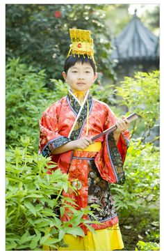 Children Han clothing Boy Ancient Costume costumes Tang Long the Tang Dynasty Prince apparel Little emperor performance clothing