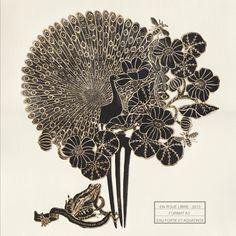 Estampe - En roue libre - Michaël Cailloux  Exposition au 107,Rivoli - Boutique du musée des arts décoratifs de Paris