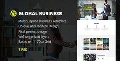 GB — Multipurpose Global Business, Freelance & Portfolio PSD Template | WP Themes