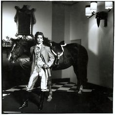 Anonymous - Female Model with Horse in Room