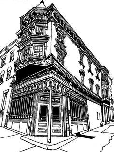 The Brooklyn Inn: Original Drawing of a Classic New York Bar