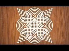 Padi Kolam with dots Rangoli Kolam Designs, Rangoli Designs Images, Padi Kolam, Small Rangoli, Blouse Designs, 4x4, Folk, Friday, Make It Yourself