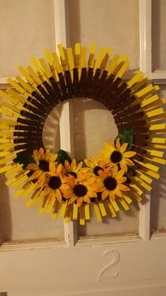 Closepin wreath Clothes pin wreath, Donna Childers, Clothes pin wreath Closepin Kranz Source by . Summer Crafts, Fall Crafts, Holiday Crafts, Wreath Crafts, Diy Wreath, Holiday Wreaths, Mesh Wreaths, Couronne Diy, Clothes Pin Wreath