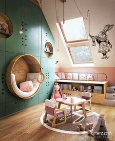 Neon Bedroom, Baby Bedroom, Girls Bedroom, Playroom Design, Kids Room Design, Montessori Toddler Rooms, Cool Kids Rooms, Kids Corner, Little Girl Rooms