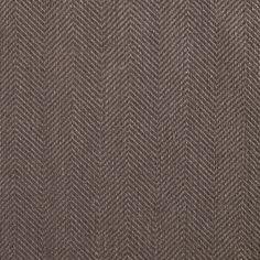 ANICHINI Fabrics   Nobel Linen Herringbone Nutshell Residential Fabric - a brown herringbone linen fabric