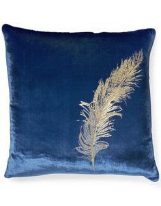 I'm a sucker for stuff with feathers... Especially blue velvet items.