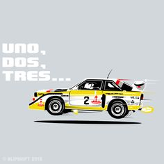Group B Rally Car Quattro blipshift tee S1mply No Equal2 | blipshift